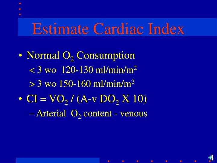 Estimate Cardiac Index