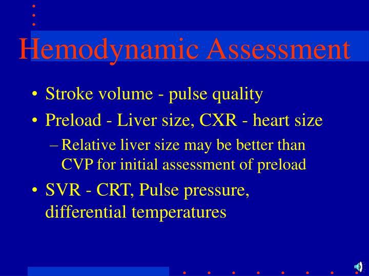 Hemodynamic Assessment
