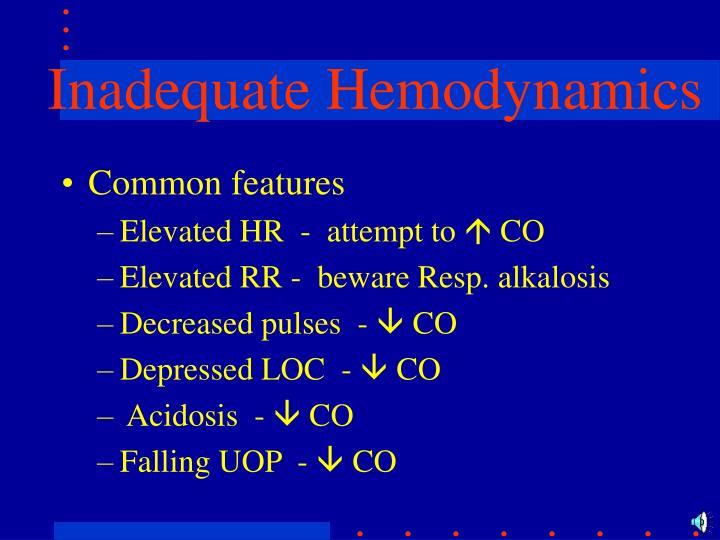 Inadequate Hemodynamics