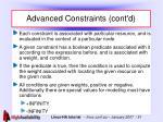 advanced constraints cont d