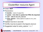 clustermon resource agent