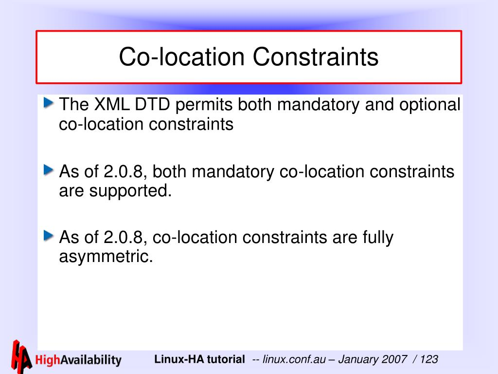 Co-location Constraints
