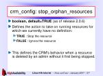 crm config stop orphan resources