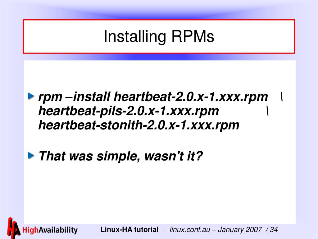 Installing RPMs