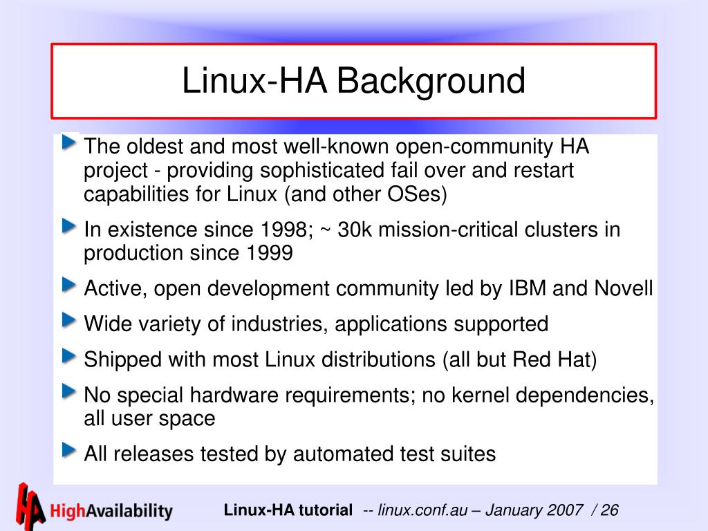 Linux-HA Background