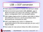 lsb ocf conversion