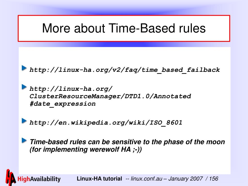 More about Time-Based rules