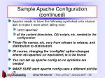 sample apache configuration continued