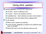 using attrd updater