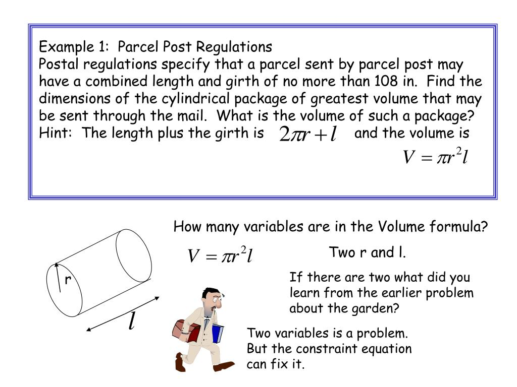 Example 1:  Parcel Post Regulations