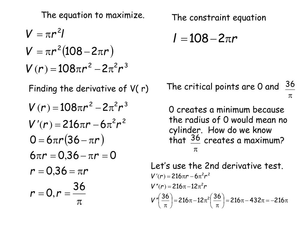The equation to maximize.