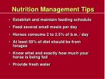 nutrition management tips