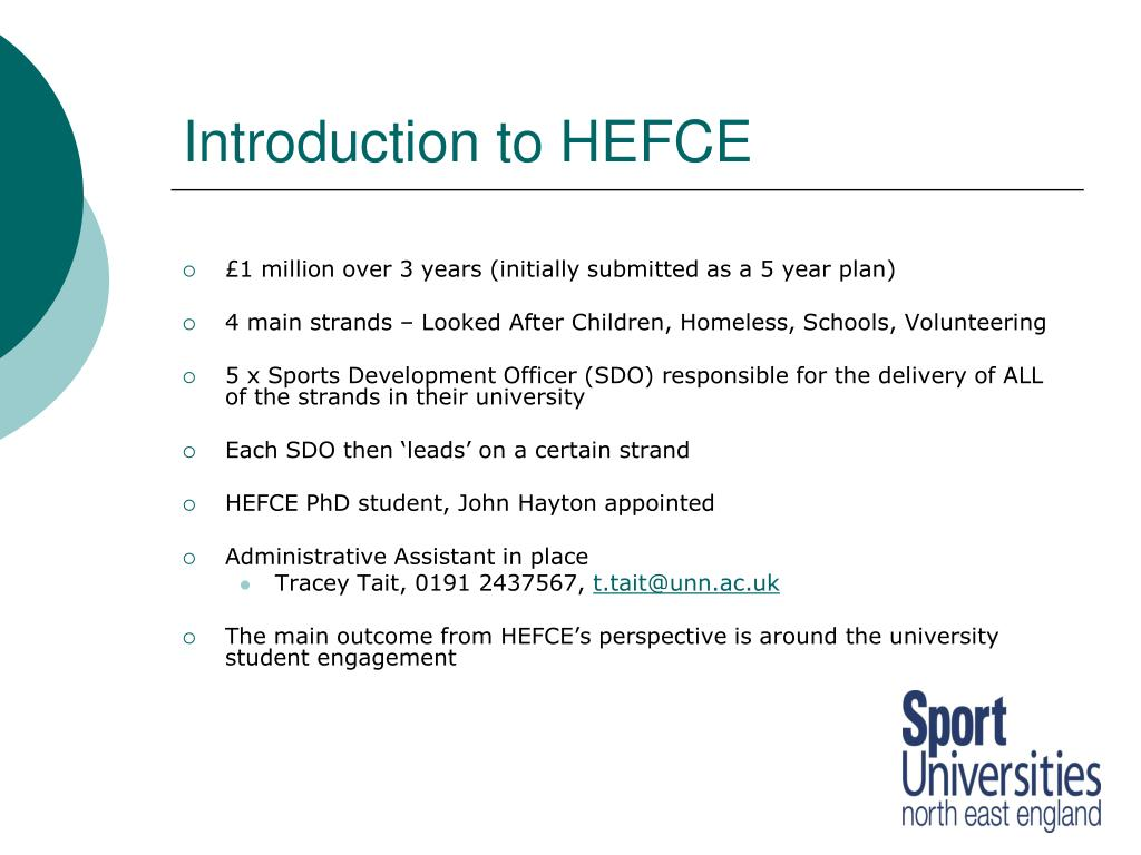 Introduction to HEFCE