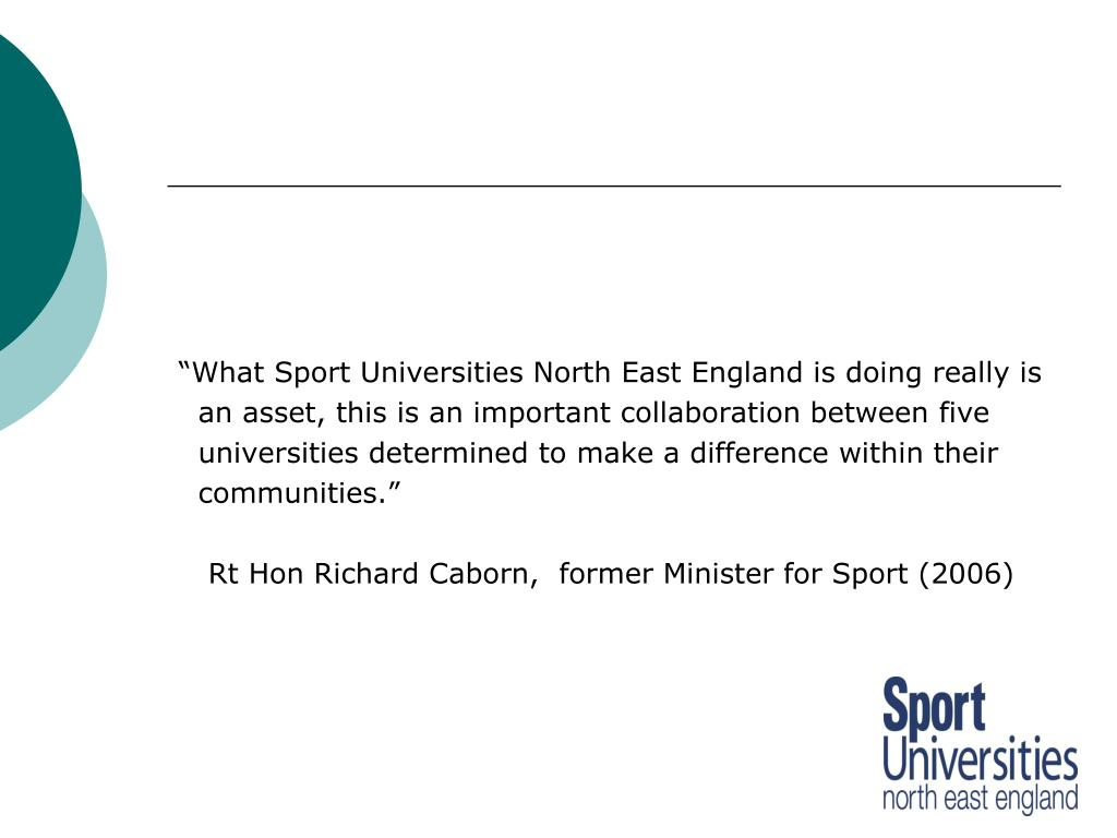 """What Sport Universities North East England is doing really is"
