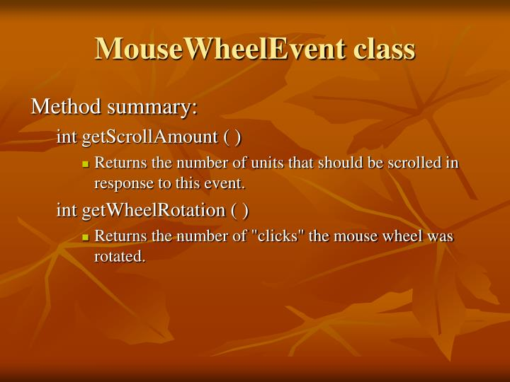 MouseWheelEvent