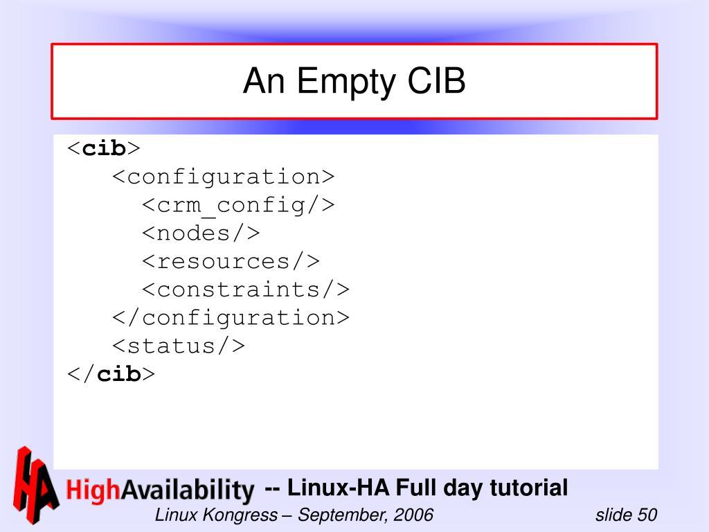An Empty CIB