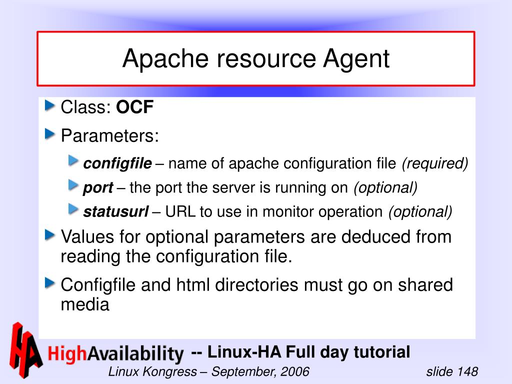 Apache resource Agent