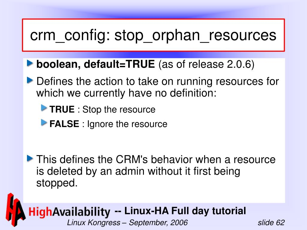 crm_config: stop_orphan_resources