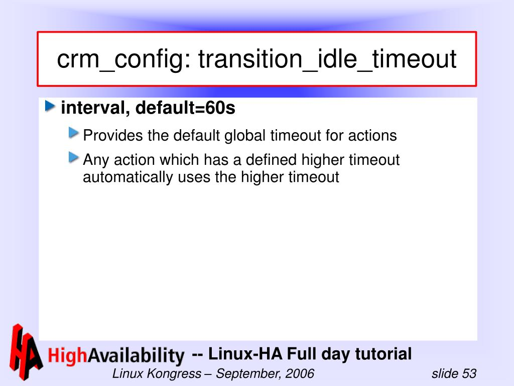 crm_config: transition_idle_timeout
