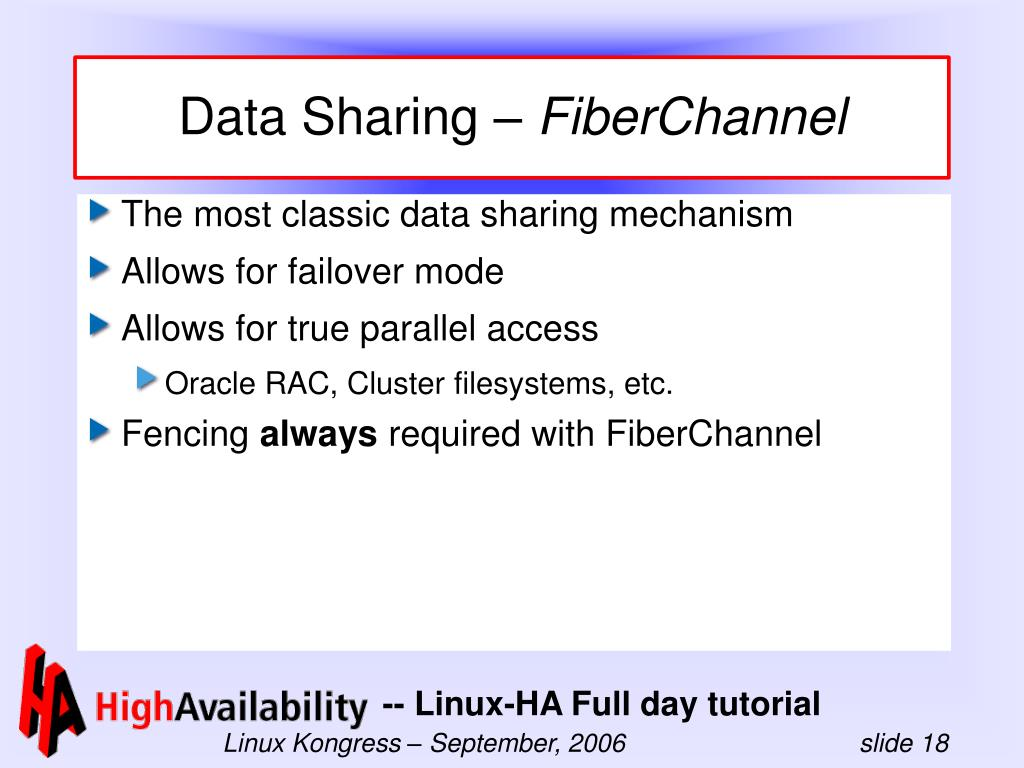Data Sharing –