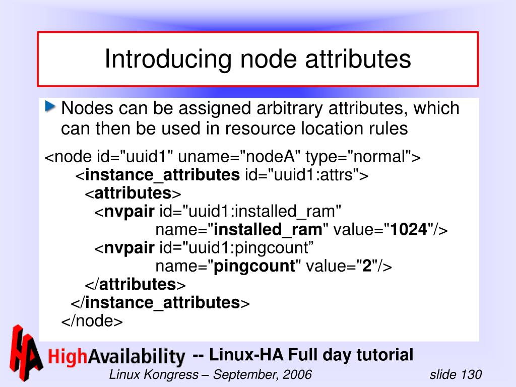 Introducing node attributes