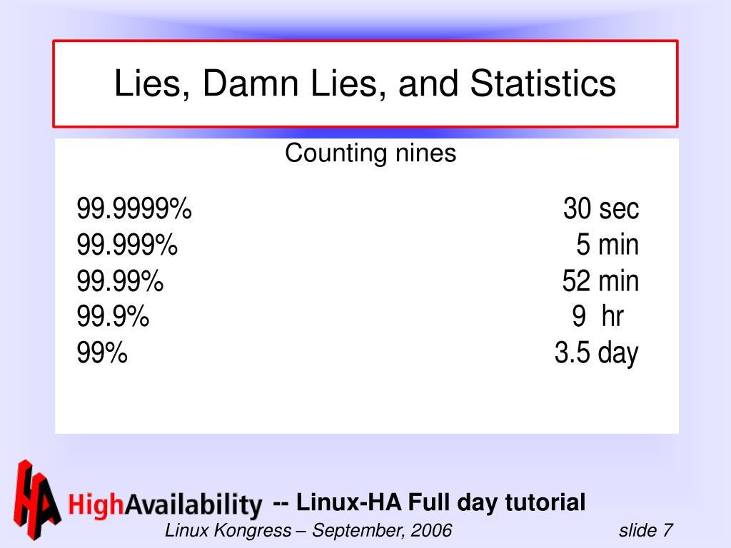 Lies, Damn Lies, and Statistics
