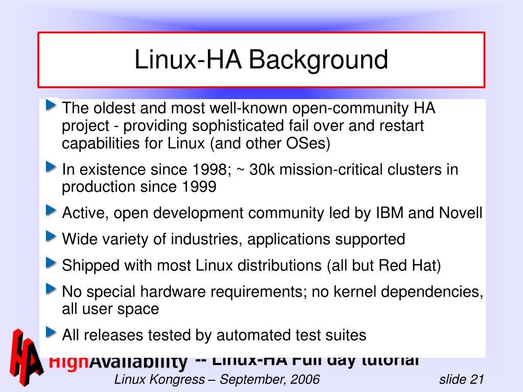 Linux-HA Background
