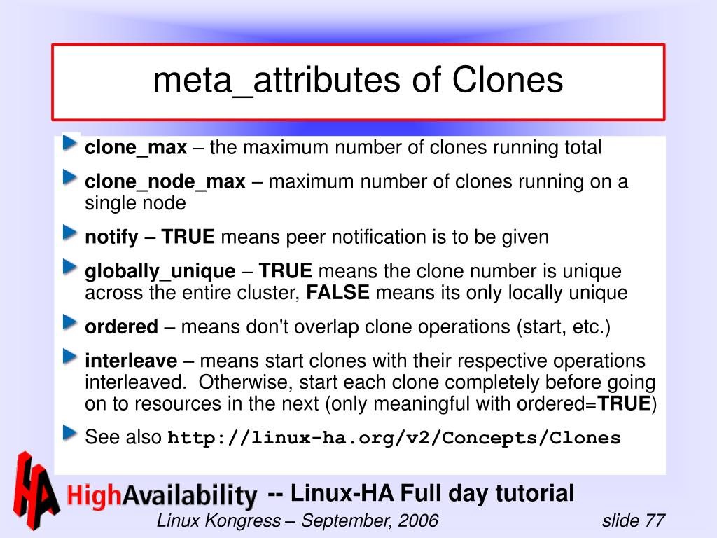 meta_attributes of Clones