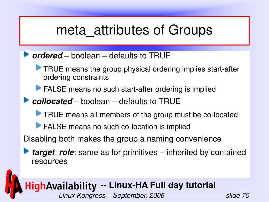 meta_attributes of Groups