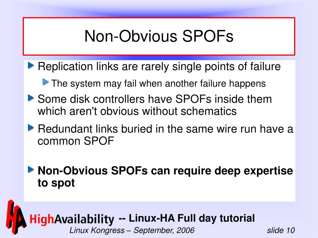 Non-Obvious SPOFs