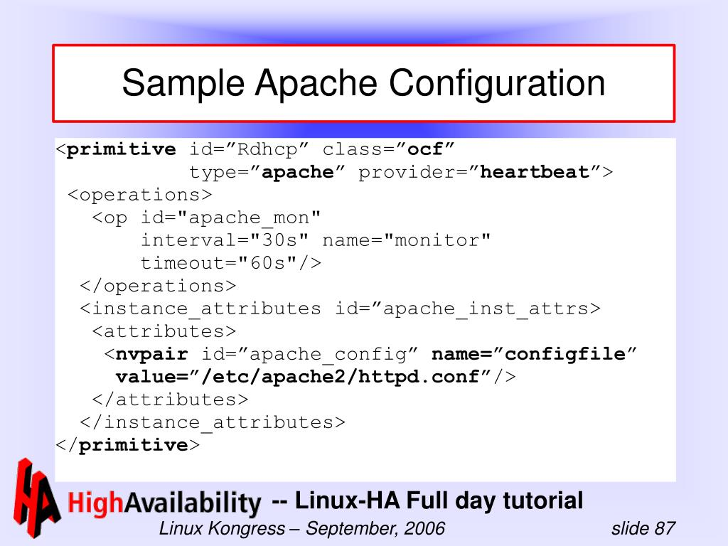 Sample Apache Configuration