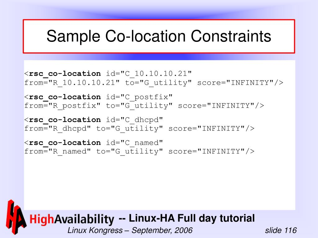 Sample Co-location Constraints