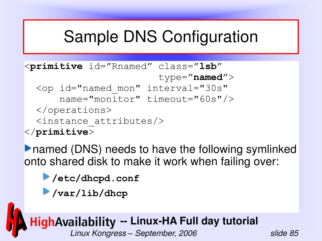 Sample DNS Configuration