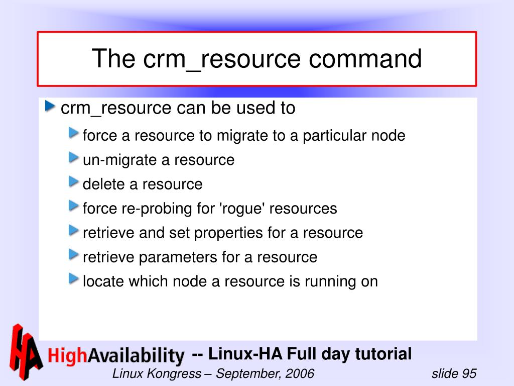 The crm_resource command