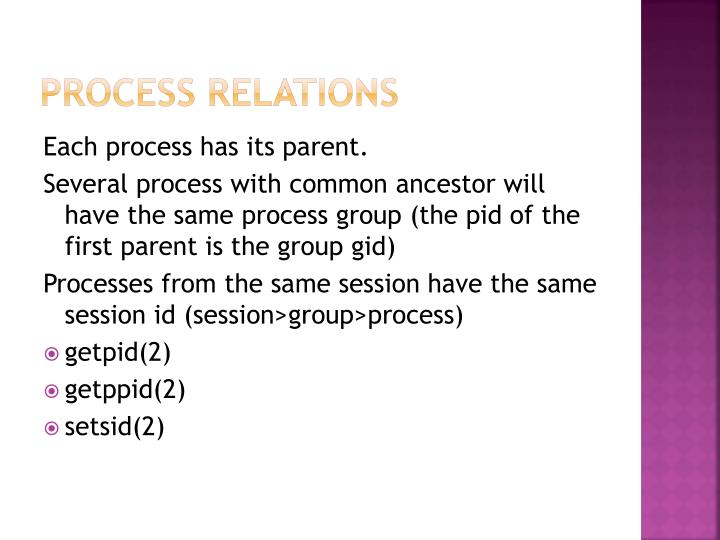 Process relations