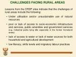 challenges facing rural areas