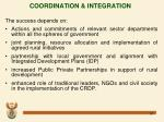 coordination integration