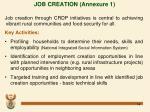 job creation annexure 1