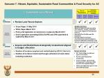outcome 7 vibrant equitable sustainable rural communities food security for all