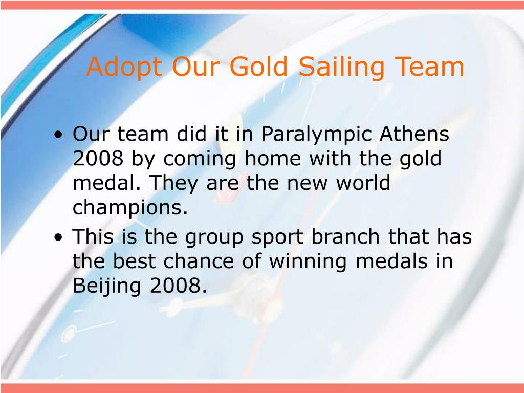 Adopt Our Gold Sailing Team