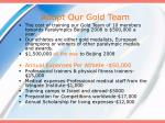 adopt our gold team