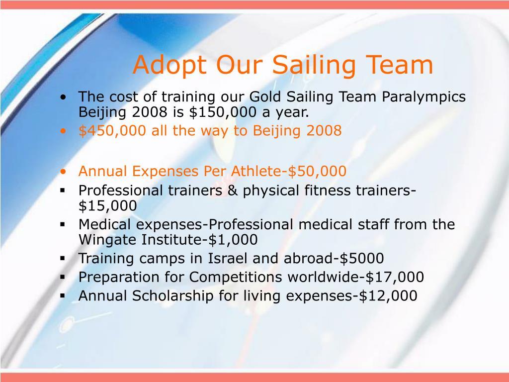 Adopt Our Sailing Team