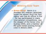 our winning gold team14