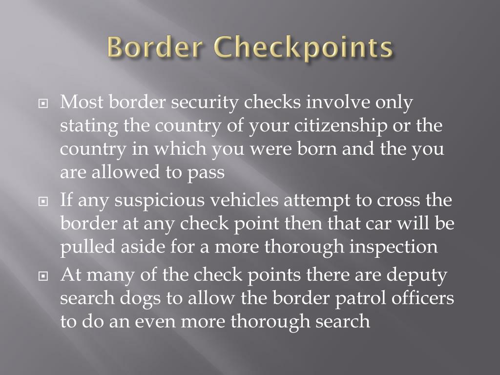 Border Checkpoints
