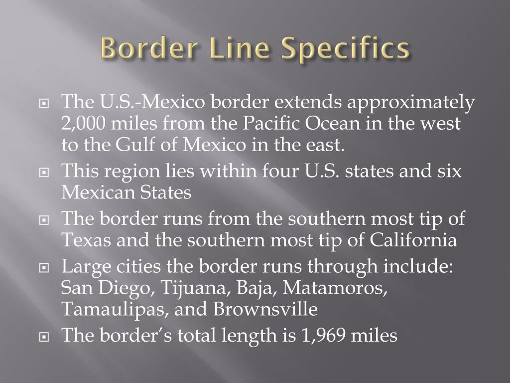 Border Line Specifics