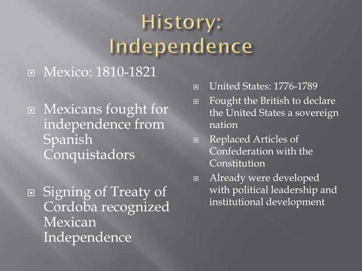 History independence