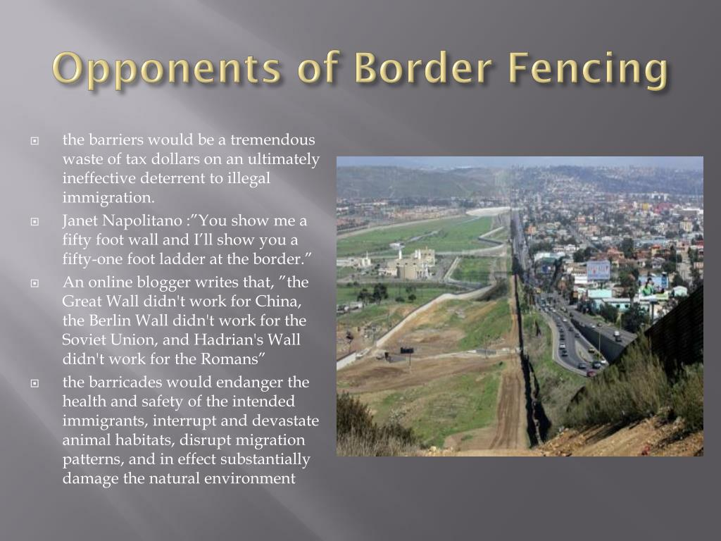 Opponents of Border Fencing