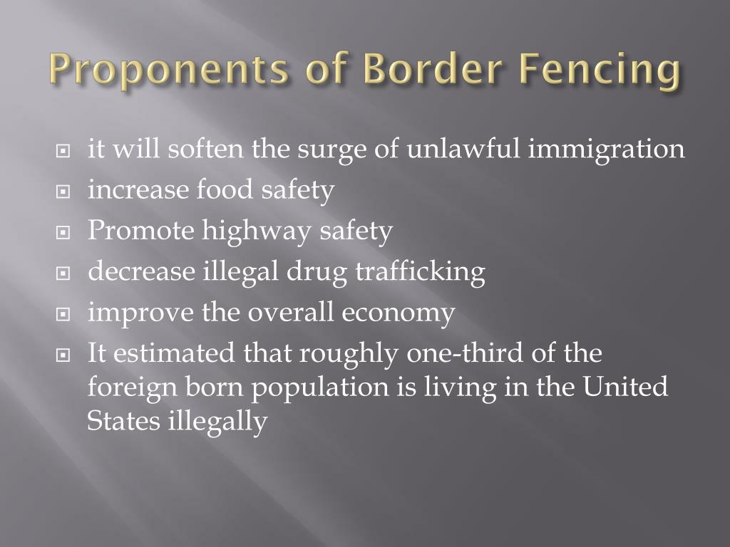 Proponents of Border Fencing