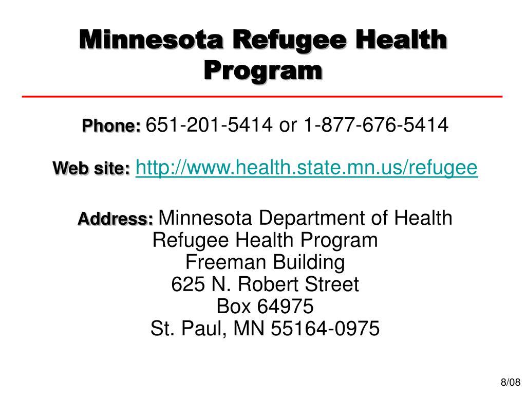 Minnesota Refugee Health Program