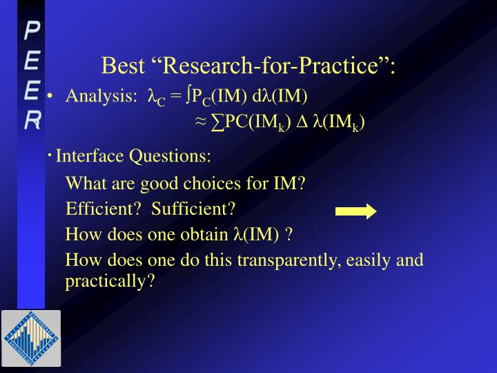 "Best ""Research-for-Practice"":"